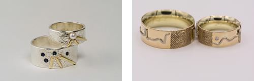 Voorbeelden van sieraden op maat gemaakt