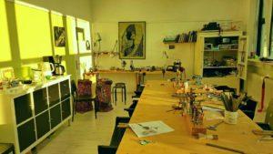 Het atelier in Eindhoven